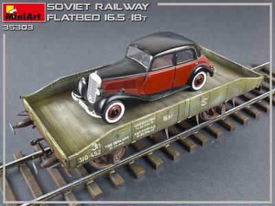 Soviet Railway Flatbed 16,5-18 t - 3