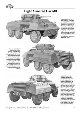 TM U.S. WWII M8 Light Armour Car M20 Armoured Utility Car - 3