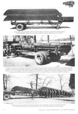 TM U.S. WWII Semitrailers for Autocar, Federal & IHC Tractor Truck - 3