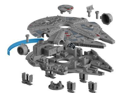 Millenium Falcon - Build & Play, zacvakávací model Star Wars se světelnými a zvukovými ef. - 3