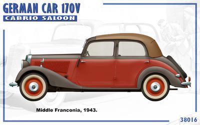 German Car 170 V Cabrio Saloon with 2 Figures - 3