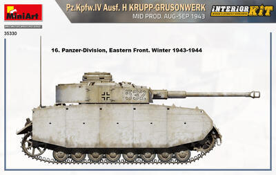Pz.Kpfw.IV Ausf. H KRUPP-GRUSONWERK. MID PROD. AUG-SEP 1943. INTERIOR KIT - 3