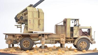 Italian Autocannone 3Ro with 90/53 90mm Anti Aircraft Gun  - 3