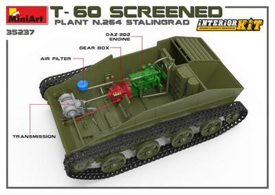 T-60 Screened Plant N.264 Stalingrad, Inetrior Kit - 3