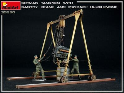 GERMAN TANKMEN WITH GANTRY CRANE & MAYBACH HL 120 ENGINE - 3
