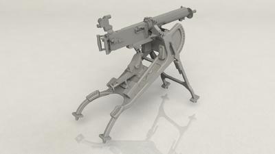 German MG 08 Machine Gun - 3
