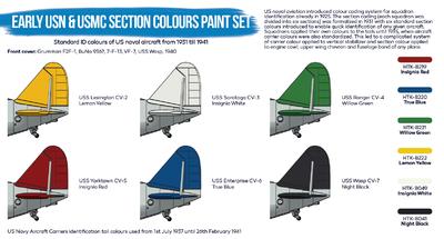 Early USN & USMC Paint Set, sada barev - 3