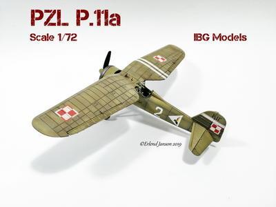 PZL P.11a - Polish Fighter Plane - přijímáme předobjednávky - pre/orders - 3