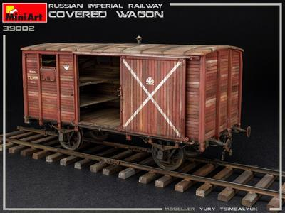 RUSSIAN IMPERIAL RAILWAY COVERED WAGON - 4