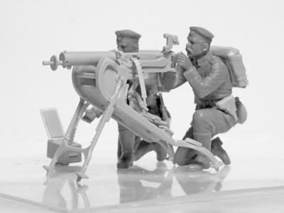WWI German MG 08 MG Team - 4