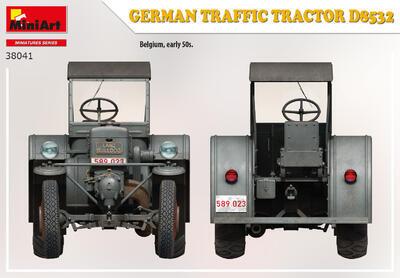 GERMAN TRAFFIC TRACTOR D8532 - 4