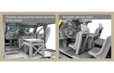 M1240A1 M-ATV U.S. MRAP All Terrain Vehicle, full interior kit - 4