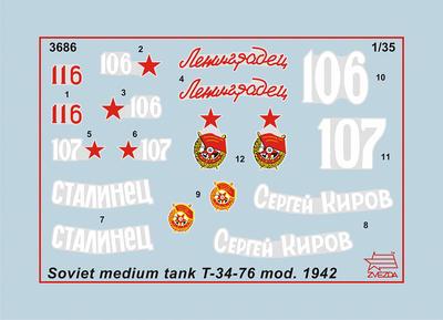 Soviet medium tank T-34/76 mod. 1942 - 4