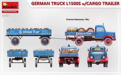 GERMAN TRUCK L1500S w/CARGO TRAILER - 4