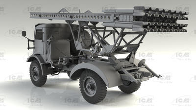 BM-13-16 on W.O.T. 8 chassis, WWII Soviet MLRS - 4