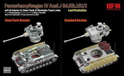 Panzerkampfwagen IV Ausf.J Sd.Kfz.161/2 (w/full interior&clear parts&workle track  - 4
