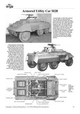 TM U.S. WWII M8 Light Armour Car M20 Armoured Utility Car - 4
