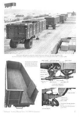 TM U.S. WWII Semitrailers for Autocar, Federal & IHC Tractor Truck - 4