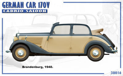 German Car 170 V Cabrio Saloon with 2 Figures - 4