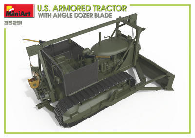 U.S. Armored Tractor with Angle Dozer Blade + 1fig.  - 4