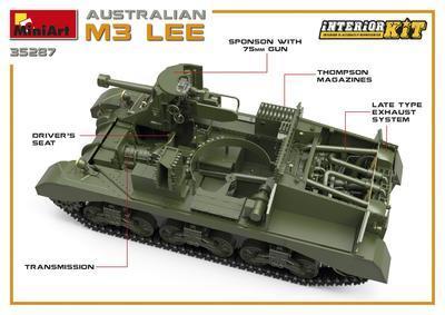Australian M3 Lee Interior Kit - 4