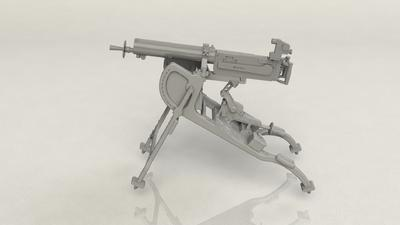 German MG 08 Machine Gun - 4