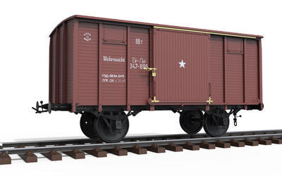 Railway Covered Goods Wagon 18t - 5