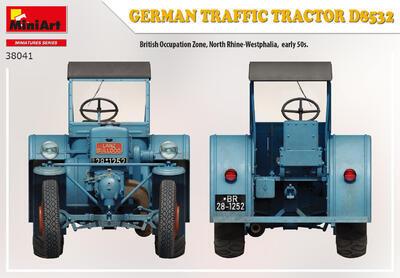 GERMAN TRAFFIC TRACTOR D8532 - 5