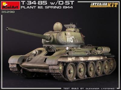 T-34/85 w D-5T, Plant 112 spring 1944 - 5