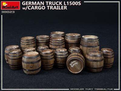 GERMAN TRUCK L1500S w/CARGO TRAILER - 5