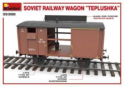 "Soviet Railway Wagon ""Teplushka""  - 5"