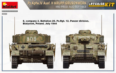 Pz.Kpfw.IV Ausf. H KRUPP-GRUSONWERK. MID PROD. AUG-SEP 1943. INTERIOR KIT - 5
