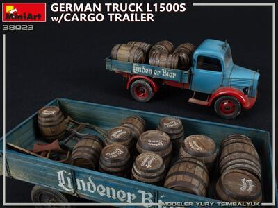 GERMAN TRUCK L1500S w/CARGO TRAILER - 7