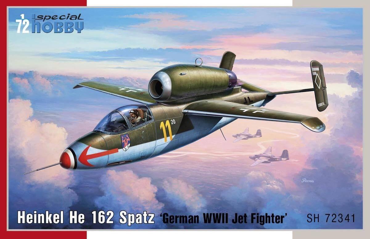 He 162 Spatz, Special Hobby 1/72 Boxart