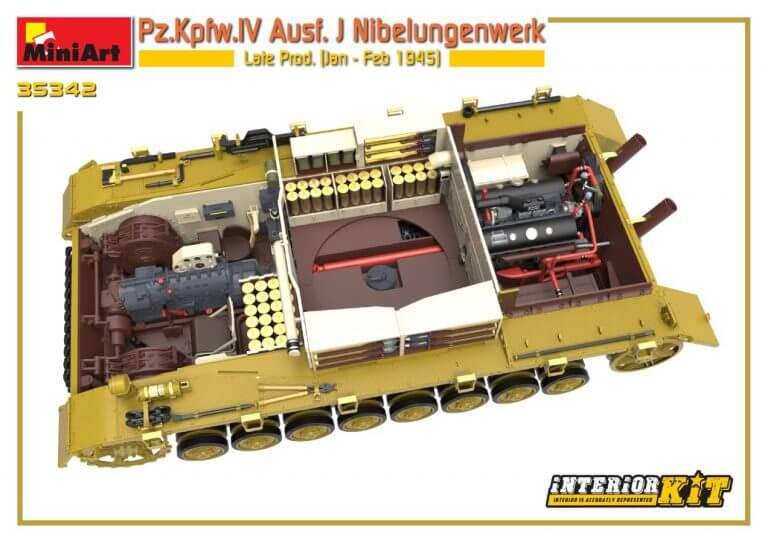 35342 Pz.Kpfw.IV Ausf. J Nibelungenwerk Late Prod.    (Jan – Feb 1945) INTERIOR KIT - foto 01