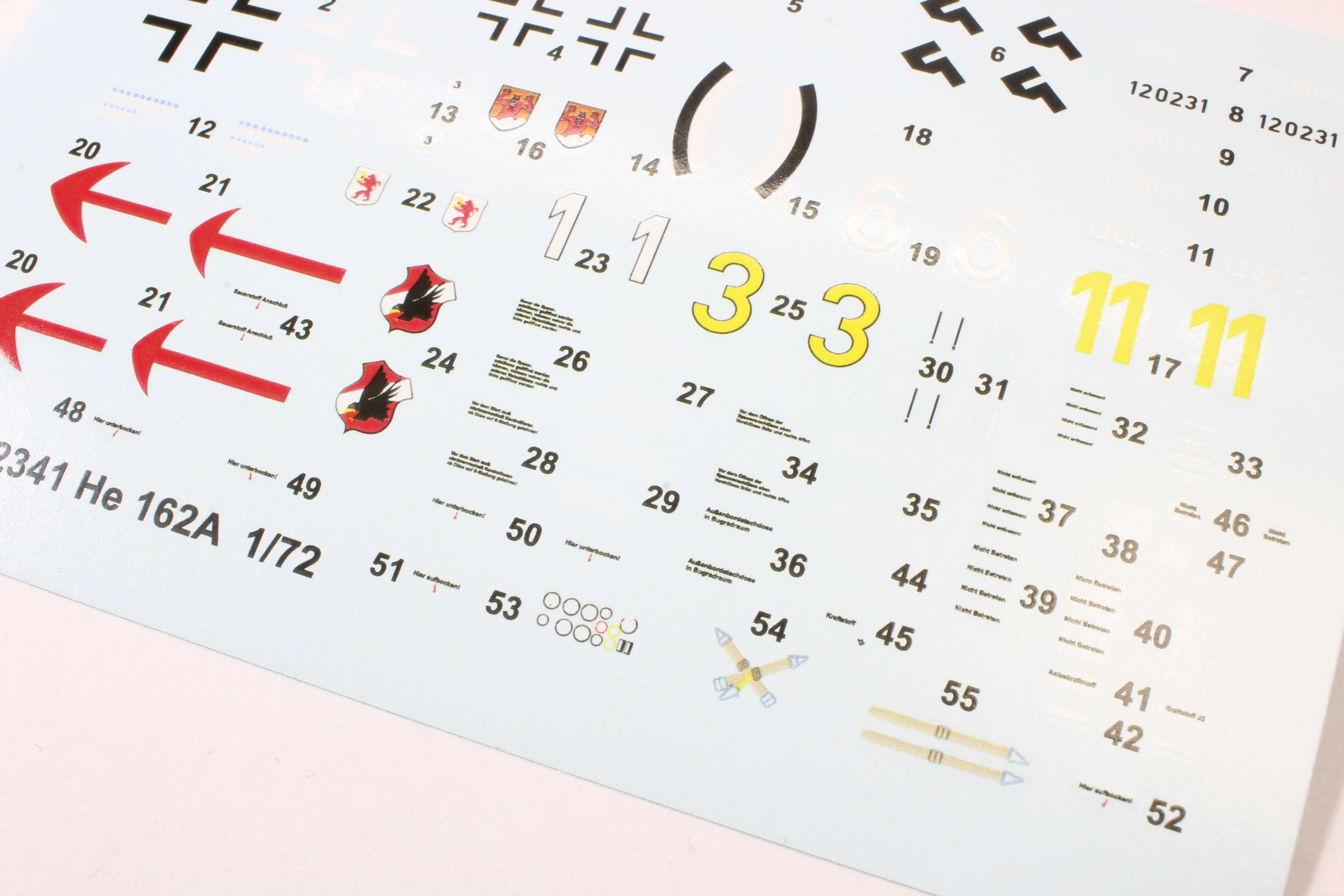He 162 Spatz, Special Hobby 1/72 Decal