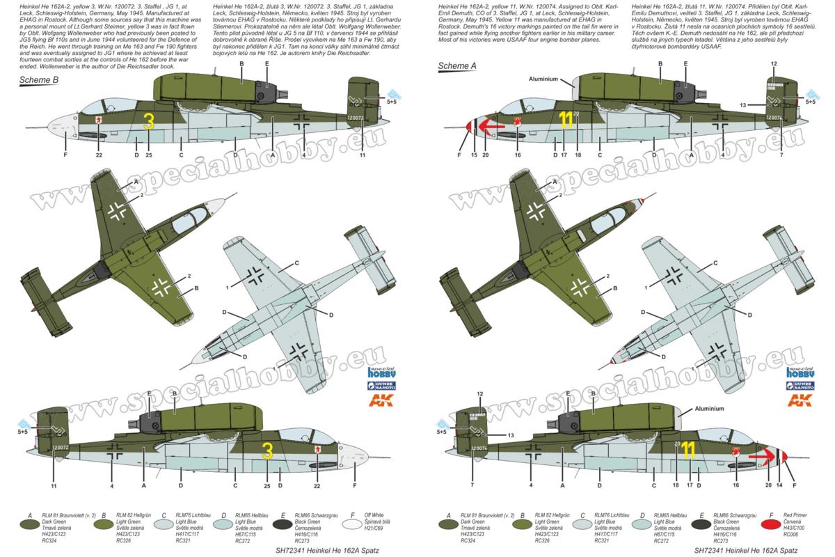 He 162 Spatz, Special Hobby 1/72 Camo 1