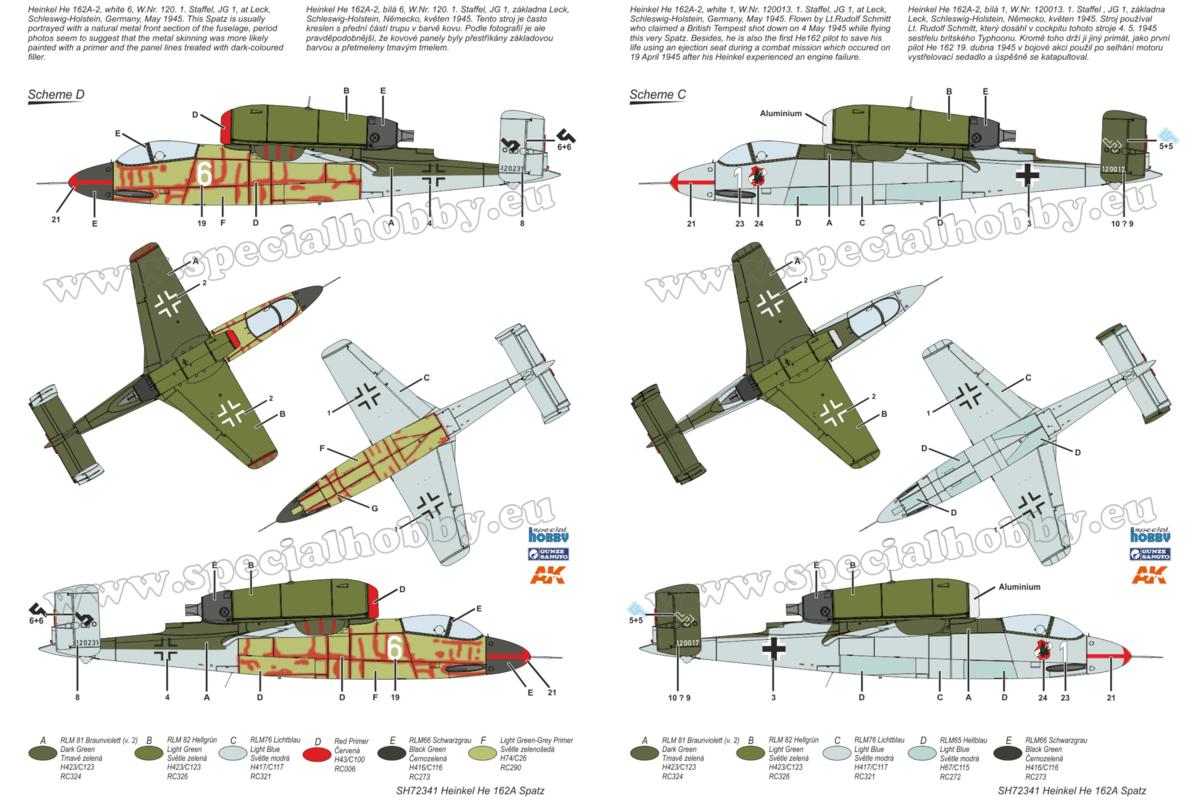 He 162 Spatz, Special Hobby 1/72 Camo 2