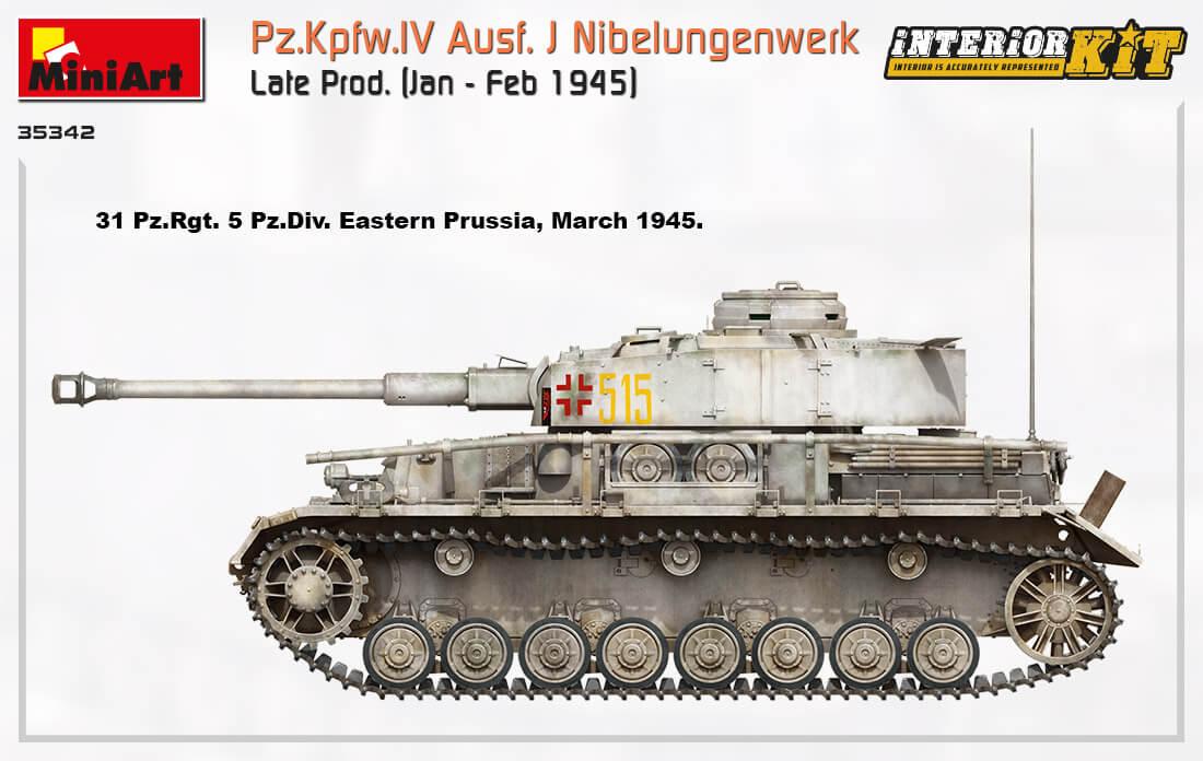 35342 Pz.Kpfw.IV Ausf. J Nibelungenwerk Late Prod.    (Jan – Feb 1945) INTERIOR KIT - foto 15