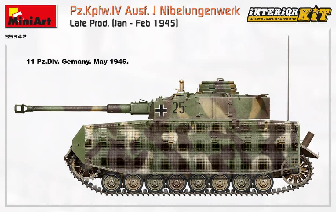 35342 Pz.Kpfw.IV Ausf. J Nibelungenwerk Late Prod.    (Jan – Feb 1945) INTERIOR KIT - foto 19