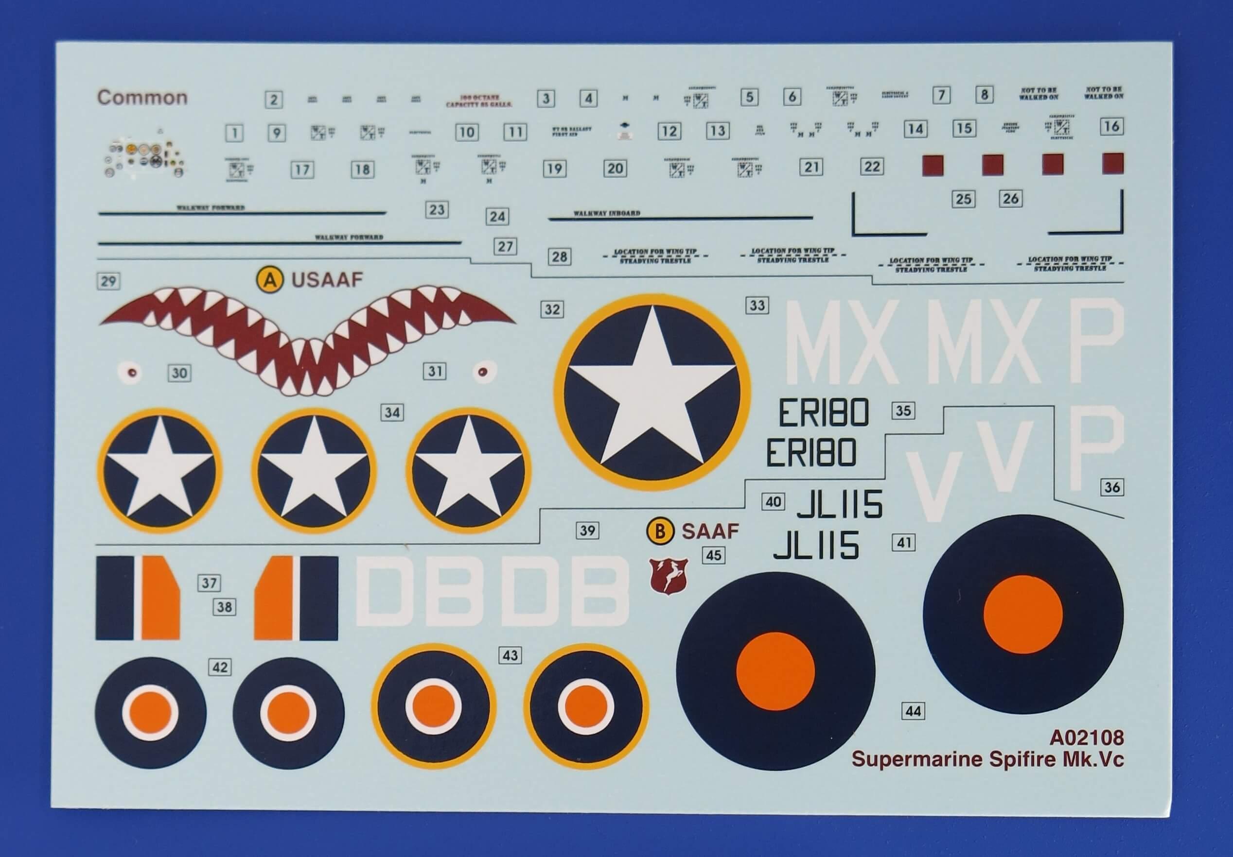 02108 Supermarine Spitfire Mk.Vc Airfix 1/72 – foto 11
